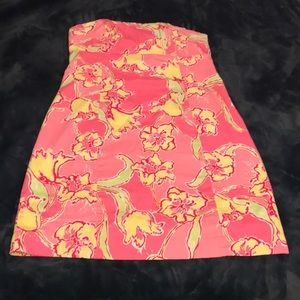 Pink Lilly Pulitzer Strapless Dress